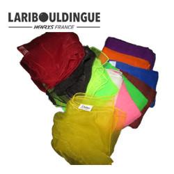 Foulards lot de 12 couleurs 65 x 65 cm